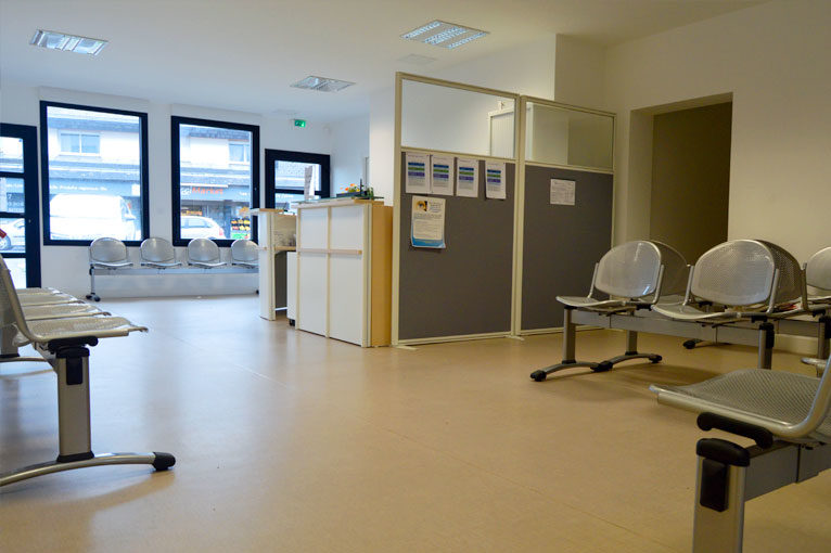 Salle d'attente - Site de Granville - Clinique d'Ophtalmologie